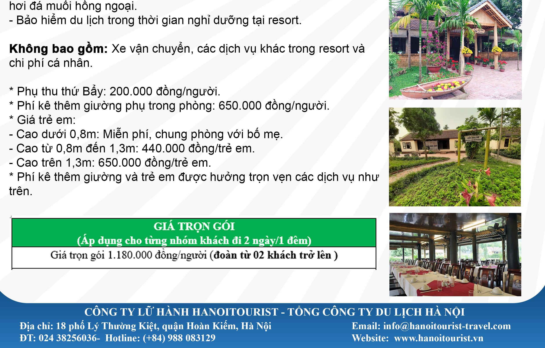 Du lịch nghỉ dưỡng tản đà resort