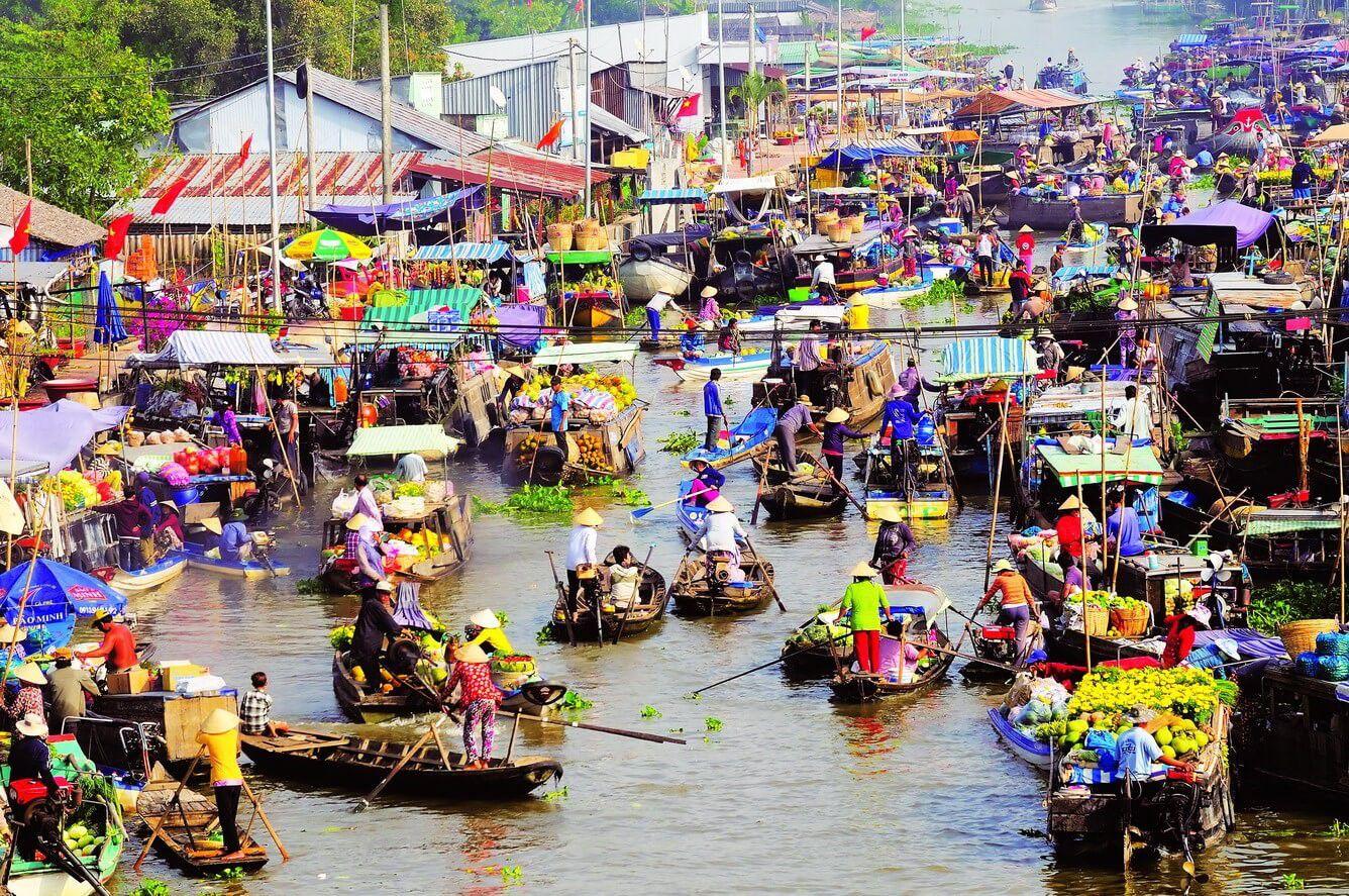 Chợ Nổi ở Cà Mau